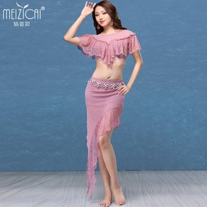 Wholesale Lady Belly Dance Costumes Girls Sexy Dance Suit Belly Top and Skirt Girls Sexy Fairy Dress D