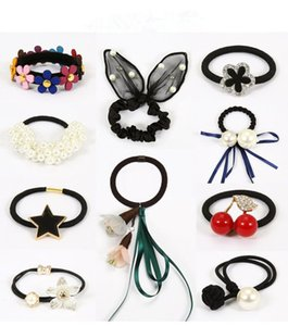 Wholesale 2018 Sale Bride Coroa sets Small Fresh Sennah Flowers Hair Circle Leather Band Contracted Adult Rope Tie Accessories Pins