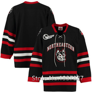 Northeastern University Huskies Twill Hockey Jersey Mens Embroidery Stitched Customize any number and name Jerseys on Sale