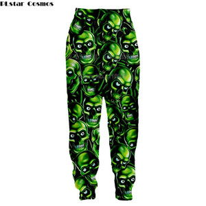 Wholesale Newest Hip Hop Style Men women long Pants D print Skull Casual Loose Harem Sweatpants Funny Unisex Trousers Brand Clothing