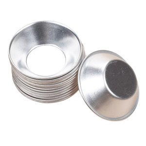 New Re-usable Egg Tart Mold super thick Aluminum Metal 7 cm Cupcake Cake Cookie Mold Tin Baking Egg Tart Tools
