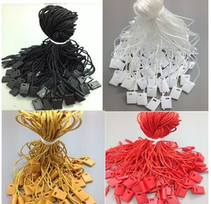 Wholesale DIY string seal garment hang tag string cords tag seal black white grey