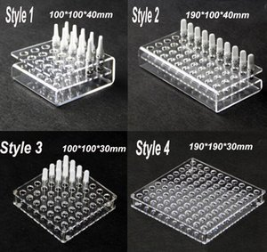 Wholesale Acrylic Display Showcase Rack Stand Show Case Shelf for G2 A3 CE3 mt6 Ceramic Cartridges Atomizer Tank Ecigs Vape Shelf Holder