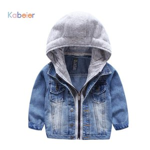 Kids Denim Jacket For Boys Jean Coat Clothing Fashion Causal Girls Cardigan Children Outerwear Cowboy Toddler Hodded Jackets Y18102607 on Sale