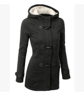 Wholesale Winter Claw Clasp Womens Wool Blended Classic Pea Coat Jacket (S-XXL,Black,Light Grey,Dark Grey,Coffee)