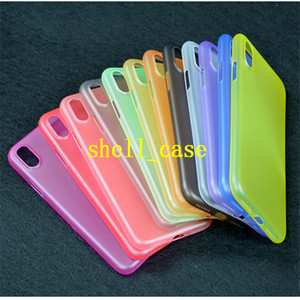Wholesale For iphone Slim Matte Frosted Soft PP Case Transparent Clear Candy Color Back Cover Skin cases For iPhone S plus