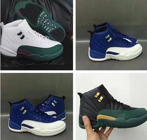 2019 New High 12s 12 Black Green Gold Mens Basketball Shoes Men Sports Training Sneakers For Sale size 41-47