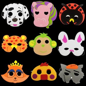 Wholesale Kids Eva Animal Cartoon Mask Elephant Tiger Party Supplies Foam Full Face Masks Children Day Gift Toy Perfomance Prop cl Z