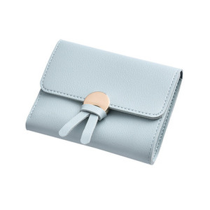 Wallet female short paragraph folding long wallet female 2018 new Korean students ins multi-function change clutch on Sale