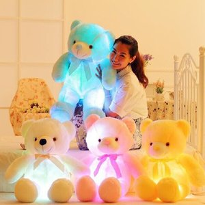 Wholesale Hot Sale CM Colorful Glowing Luminous Plush Baby Toy Lighting Stuffed Bear Teddy Bear Lovely Gifts for Kids and No Battery A30