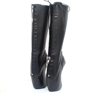 ingrosso stivali da 18cm-Nuovo Cm Super High Heel Ballet Boots Zoccoli Heelless Heels Cosplay Shoes Pointe Punk Goth YKK Chiusura lampo Zipper Sexy Fetish Boots