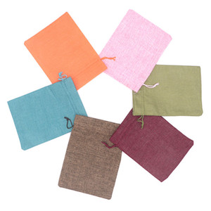 Wholesale Hot sale Guaranteed Jute linen x20cm Drawstring Pouches Wedding Birthday Party Packing Bag