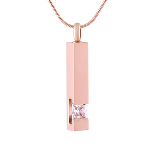 Wholesale funeral urns for sale - Group buy IJD9400 Fashion Men Women Necklace Crystal Bar Ash Urn Pendant Stainless Steel Cremation Pendant Necklace Funeral Ashes Keepsake Jewelry