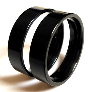 Wholesale Unisex Black Band Rings Wide MM Stainless steel Rings for Men and Women Wedding Engagement Ring Friend Gift Party Favor