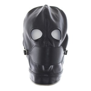 New Sex toys for woman Leather Mask Sex mask for men leather hood sexe jouets bdsm fetish Sex Collar for people Flirting Toy games