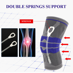 New Elastic Knee Support Brace Kneepad Adjustable Patella Volleyball Knee Pads Basketball Safety Guard Strap Protector