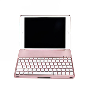 Wholesale air pad case for sale - Group buy Flip Pad Cases for New Pad Inches Pad Air with Wireless Bluetooth Keyboard Case Backlit C085 Tablet Cover