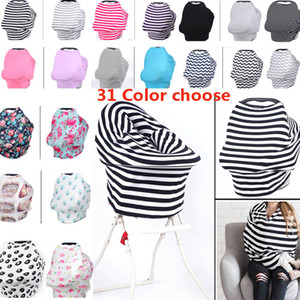Wholesale Multi Use Baby Car Seat And Nursing Cover Privacy Wrap Shawl Cotton Scarf Blanket Stripe Baby Shopping Cart Chair Cover Styles HH7
