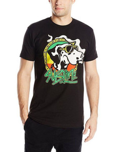 Wholesale Sublime Cartoon Dog With Joint Light T Shirt SM MD LG XL XXL New Cool Tops Men S Short Newest Men S Funny Top Tee