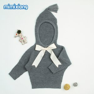 Grey Hooded Designer Sweater for Toddler Girl Autumn Newborn Baby Sweaters Clothes Casual Infant Knitting Jumper Kids Cardigans