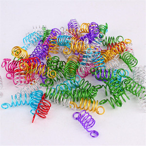 Aluminum Braids Spring Twist Hair Rings Twist Capelli Ring Hair Coil Dreadlocks Braiding Beads Wig Jewelry Ring H1467