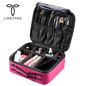Wholesale 2018 Professional Vanity Cosmetic Bag Organizer Women Travel Make Up Cases Big Capacity Cosmetics Suitcases For Makeup X3235 C18111401