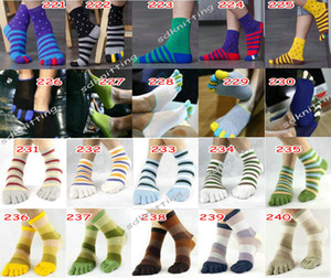 Over 400 Styles Kid Men Five Finger Socks Cotton Breathable big boy Five Toe Socks Five Finger Socks