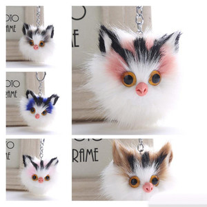 Wholesale cute fox keychain resale online - Faux Rabbit Fox Fur Keychain Styles Cute Pom Pom Eagles Owl Keychain Bag Charms Car Key Chain Holder Promotional Gifts Whoelsale