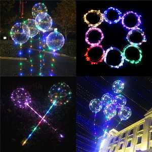 Wholesale Luminous Bobo Balloons LED Light Balloon inch Balloons For Wedding Party Festival Luminous Decorations Toys Free DHL