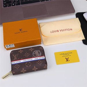 Wholesale 2018AAA new leather zipper wallet luxury men s bags famous designer big man card package