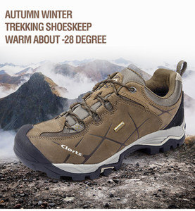 Wholesale Men Hiking Shoes Nubuck Climbing Waterproof Outdoor Trekking Genuine Leather Mountain Shoes