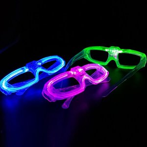 Wholesale NEW EL Wire Glowing Glasses LED Glowing Flashing Glasses Fluorescence Cold Light Glasses Party DJ Party Christmas MYY EL Wire Glowing Glasse