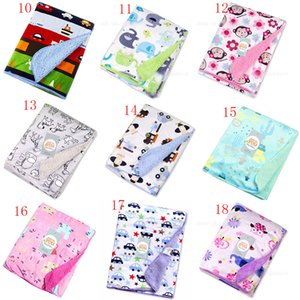 Wholesale Kids animal Blankets Polyester print Blankets infant Swaddling Double layer baby Sleeping Bag cm styles C4737