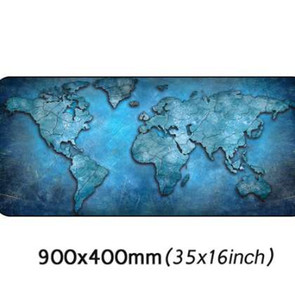 Vintage World Map Gaming Mouse Pad with Stitched Edges Non-Slip Rubber Base Extended XXL Mousepad Computer PC Keyboard 900*400mm
