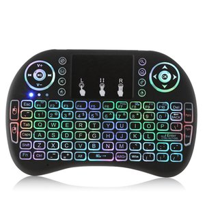 Wholesale Mini i8 Wireless Backlight Keyboard With RGB Colours Backlit Touchpad Air Mouse Gaming Keyboards for H96 Max Plus MXQ TV Box