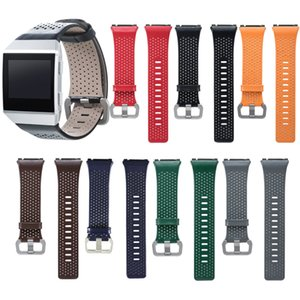 Wholesale New Arrive Replacement Perforated Genuine Leather Wristband Strap Bracelet for Fitbit Ionic Smart Watchbands Wriststraps Wristbands