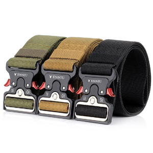 Wholesale 5cm Wide Version Tactical Cool Style Belt Protection Black Brown And Green Mountaineering Cycling Trekking Nylon Belts