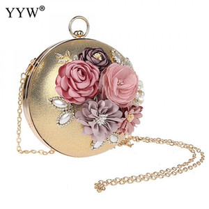 Wholesale YYW Ball Type Clutch Bag With Pearl Dinner Bag Floral New Women Evening Clutch Bags Purse Girl Party Clutches Bolsos Mujer