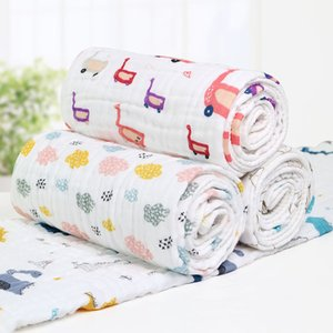 Wholesale Baby Bath Towels Baby Blankets Kids Summer Quilts Six Layers of High Quality Cotton Yarn Soft and Breathable