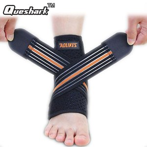 Wholesale 1pcs Sport Breathable Ankle Brace Protector Adjustable Ankle Support Pad Protection Elastic Brace Guard Support Football