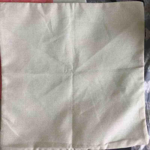 Wholesale sample plain natural light color cotton linen blank cushion cover g blank pillow case can provide pattern custom print your design