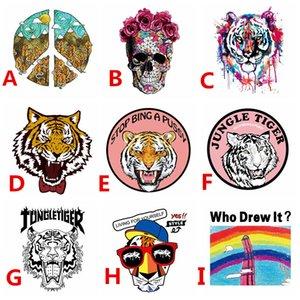 Wholesale Heat Transfer Vinyl Patch Custom Design Customize Sticker Iron On Transfer Applique Badge for DIY T shirt Clothes Fabric Decoration Printing