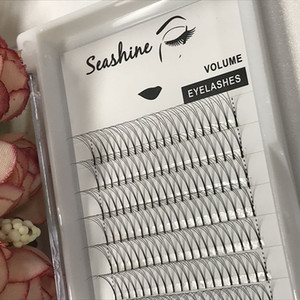 Wholesale 3D C curl all size Korea Pre Made Fans Volume Lashes Faux Mink Eyelash Extensions Tray Best Quality in World Silk Material