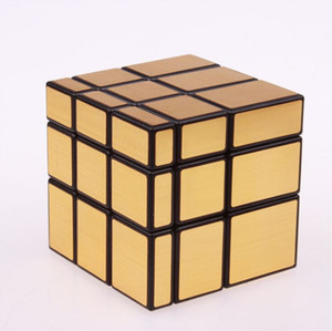 Wholesale 3x3x3 Magic Mirror Cube professional Gold Silver cubo magico Cast Coated Puzzle Speed Twist learning and education Toys