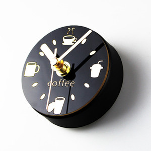 Wholesale Fridge Sticker Coffee Kitchen Clock Sweep Magnet Clocks Refrigerator Watch Reloj de Pared Wall Clock