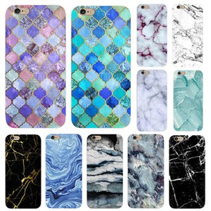 Wholesale phone Case marble painted phone Case relief soft shell TPU creative art mobile phone sets for iphone