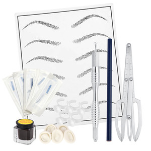 Wholesale needles for tattooing resale online - Eyebrow Tattoo Kit Microblading Pins Needles Pen Tattoo Pigment Practice Skin for Manual Semi Permanent Makeup