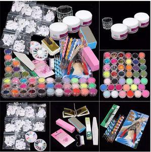 Wholesale ColorWomen 37 in 1 Professional Manicure Set Acrylic Glitter Powder French Nail Art Decor Tips Set 160927 Drop Shipping