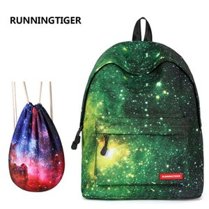 Wholesale New Backpack For Girls Fashion Starry Sky Print College Student School Backpack Teenagers Girls Women Travel Shoulder Bag