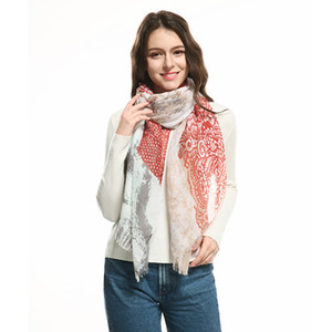2018 Printed Scarf Women Fashion Snood Long Shawls and Wraps Womens Clothing Luxury Designer Brand Elegant Ladies Scarves
